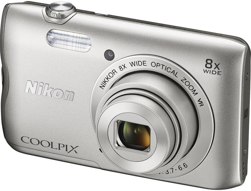 nikon coolpix a300 20.1 m.p red pattern compact digital camera 8-gb card,pouch