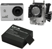 SJ Cam Sjcam4000Wifi_0005 Sjcamsj4000Wifisilver+1Battery Sports & Action Camera(Silver)