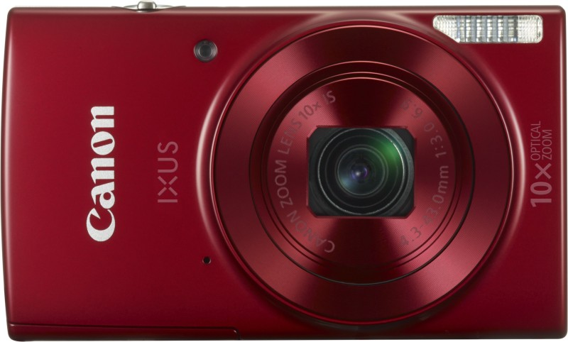 canon ixus 180 digital camera (red) with 8gb memory card and camera case cover