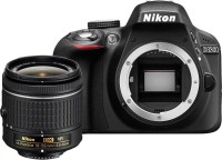 Nikon D3300 DSLR Camera (Body with AF-P 18-55 mm F 3.5-5.6G VR   AF-S 55-200 mm F 4-5.6G ED VR II)(Black)