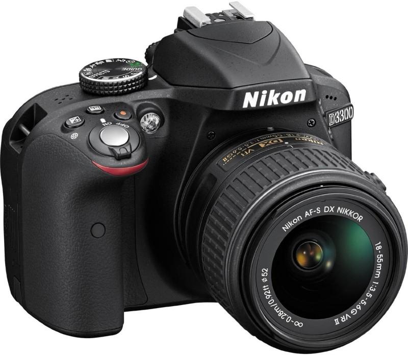nikon d3300 24 megapixels digital camera-black+af-s 18-55mm and 55-200 vr lenses