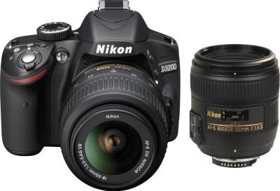 Nikon D3200 (Body with AF-S 18 - 55 mm VR Kit + AF-S NIKKOR 50 mm F/1.8G Le) DSLR Camera