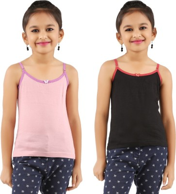 Vica Pota Camisole For Girls(Black, Pack of 2)