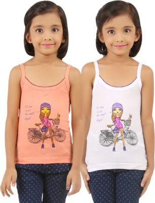 VICA POTA Camisole For Girls(Orange, Pack of 2)