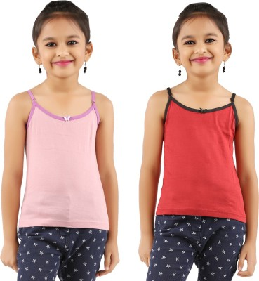 Vica Pota Camisole For Girls(Pink, Pack of 2)