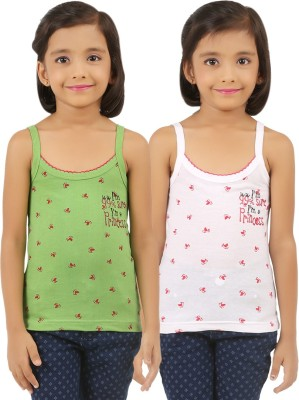 Vica Pota Camisole For Girls(Light Green, Pack of 2)