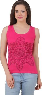 Yati Casual Sleeveless Printed Women's Pink Top
