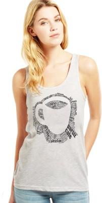 Altamoss Casual Sleeveless Printed Women's Grey Top