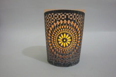 V Design N Decor Iron, Glass Tealight Holder