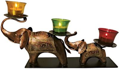 Handicrafts Siddh Arts Antique Look Iron 3 - Cup Tealight Holder