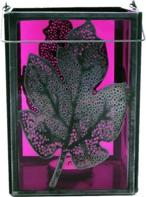 Peacock Life Glass, Steel Tealight Holder