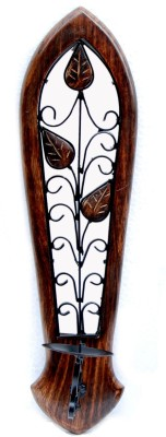 Decorhand Wooden, Iron 1 - Cup Candle Holder