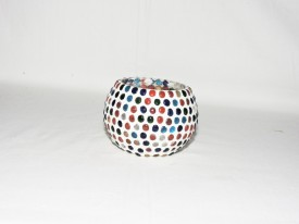 Gojeeva Glass 1 - Cup Tealight Holder(Multicolor, Pack of 1)