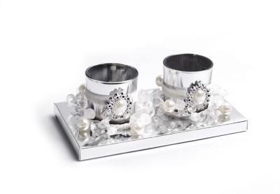 Crea Plastic Candle Holder Set