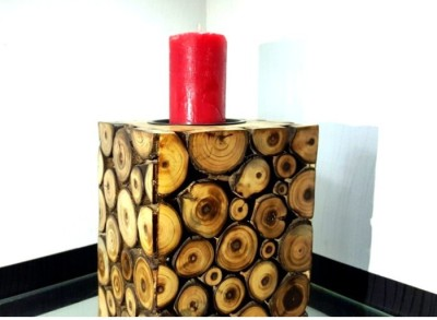 Onlineshoppee Wooden Candle Holder