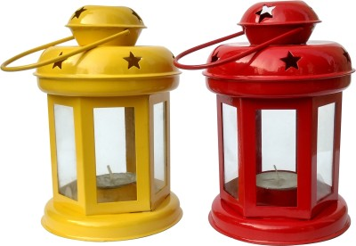 Tiedribbons Iron 2 - Cup Tealight Holder Set(Yellow, Pack of 2)