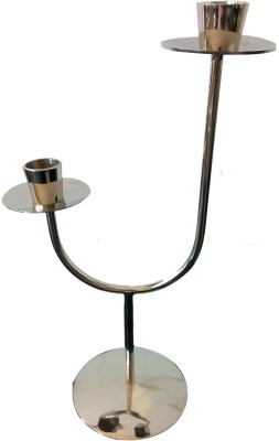 Akanksha Arts Stainless Steel 2 - Cup Candle Holder