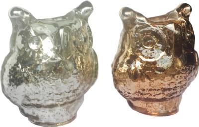 Salt & Grey Interiors Glass 2 - Cup Tealight Holder Set