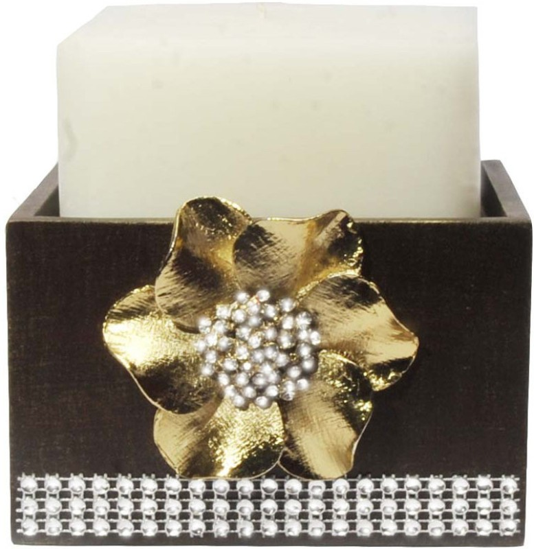 Butterfly Homes Ganesha Tea Light-BH-CS-22-007 Wooden 1 - Cup Tealight Holder Set(Gold, Black, Pack of 1)