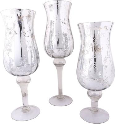 Giftadia Hurricane-JW 5577 Glass Tealight Holder Set