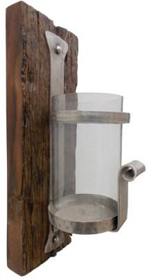 Indune Lifestyle Wooden, Iron, Glass Candle Holder