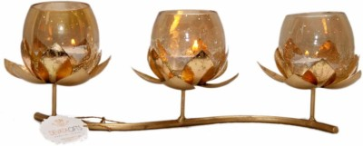 Devata Gifts Glass Candle Holder Set