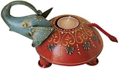 Handicrafts Siddh Arts Elephant Design Wooden 1 - Cup Tealight Holder