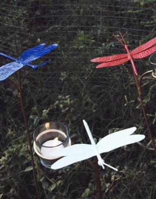 Orange Tree INSTZ GARDEN dragonfly set of 3 Iron 3 - Cup Tealight Holder Set