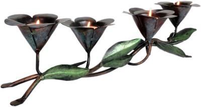 Raja Arts Antique Bronze 5 - Cup Tealight Holder