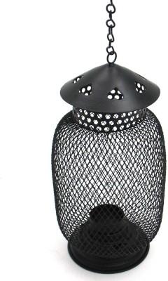 Indian Reverie Black Powder Coated Iron Candle Holder