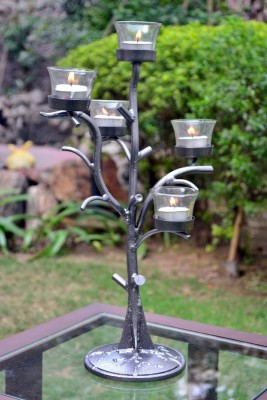 AG Gifts Iron 5 - Cup Tealight Holder