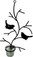 Toygully Bird Tea light holder wall decorative Iron 1 - Cup Tealight Holder(Black, Pack of 1)