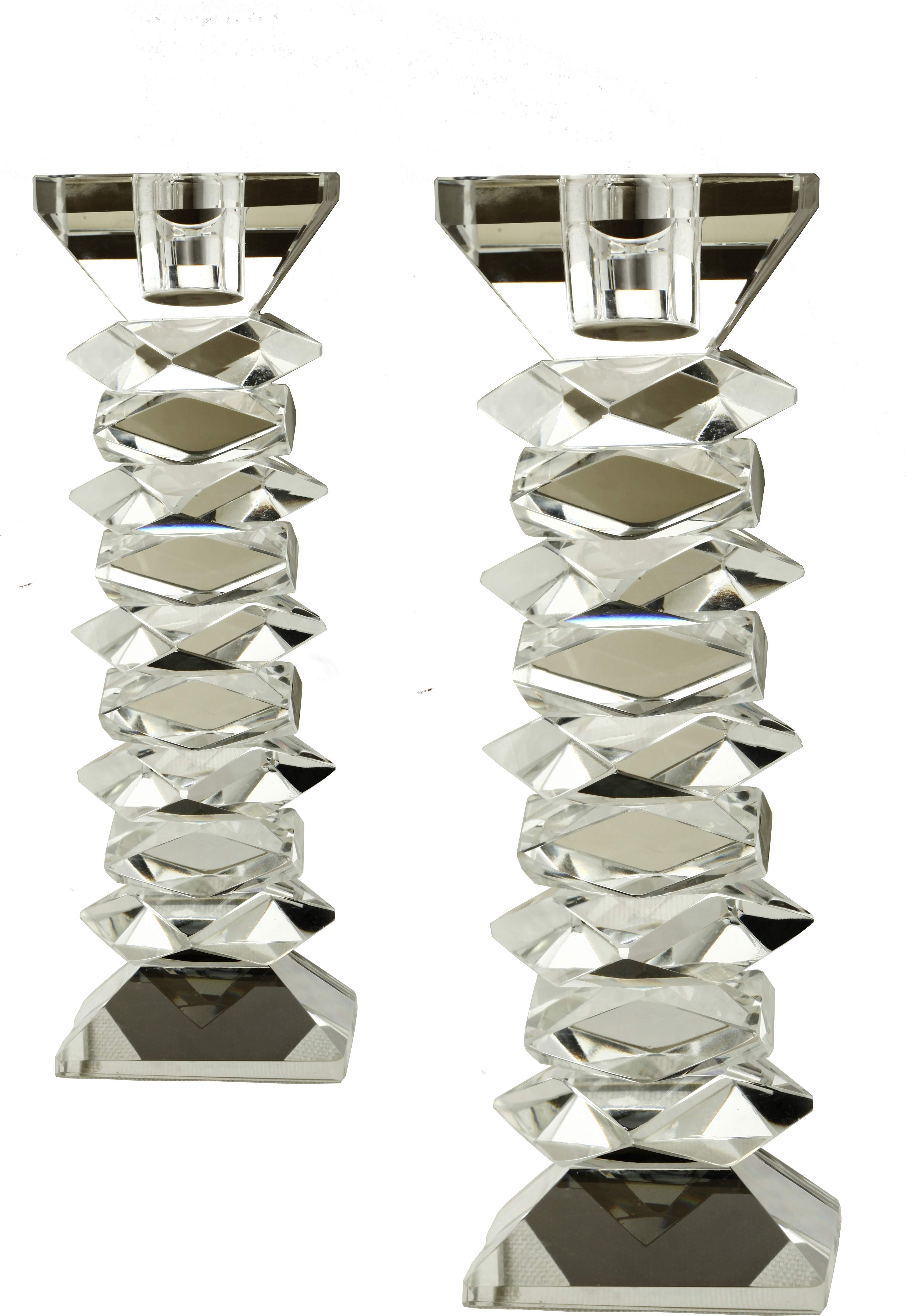 Foyer Crystal Candle Holder(Gold, Silver, Pack of 2)