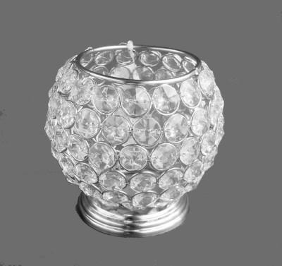 Metallic Kreationz Aluminium, Crystal 1 - Cup Tealight Holder