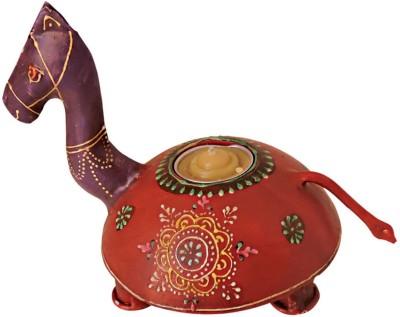 Handicrafts Siddh Arts Wooden Camel Design Wooden 1 - Cup Tealight Holder