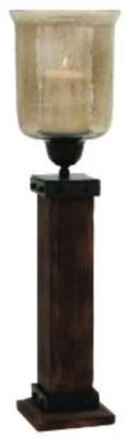 Kala Bhawan Light Wood Hurricane 26x7 Glass 1 - Cup Candle Holder