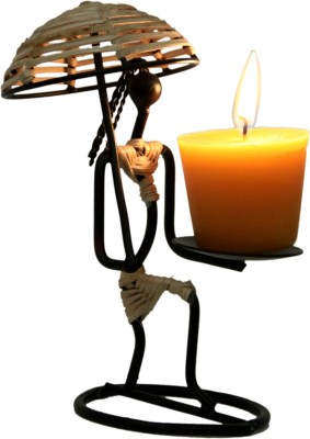 Aesthetic Decors Iron 1 - Cup Candle Holder