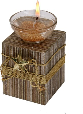 Aadhya Creations Wooden 1 - Cup Candle Holder