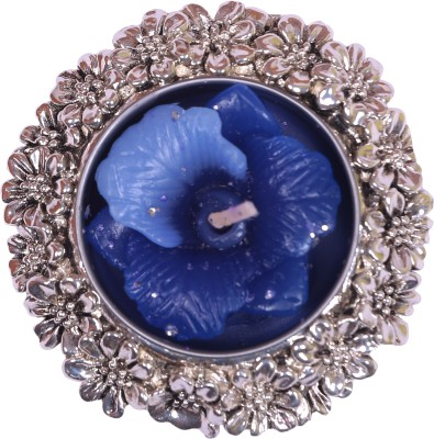 Siri Creations Flower Carving with Antique Polish Silver Plated 1 - Cup Candle Holder