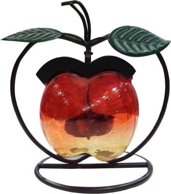 Raghav Apple Shape Glass 1 - Cup Candle Holder
