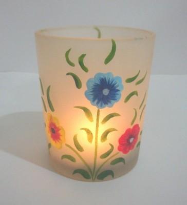 V Design N Decor Glass Tealight Holder