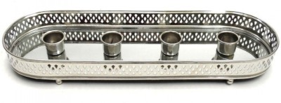 Indian Reverie Aluminium, Nickel Candle Holder