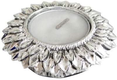 exciting Lives Diwali Diya Holder Silver Tealight Holder(Silver, Pack of 1)