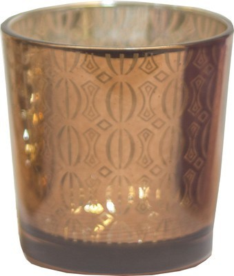 JB Collection Glass 1 - Cup Candle Holder(Multicolor, Pack of 1)