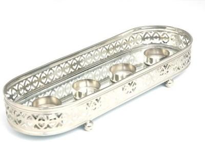Indian Reverie Aluminium, Nickel Tealight Holder