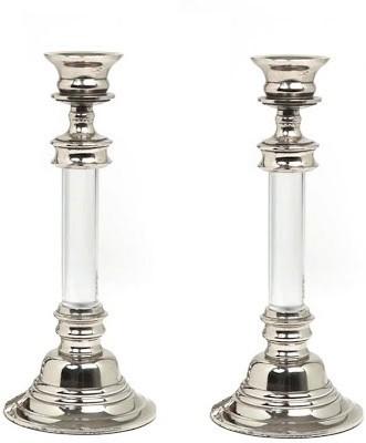 Indian Reverie Aluminium Candle Holder Set