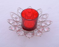 Ashiana Crystal Lotus Flower with Glass T- light Holder - red Crystal Tealight Holder(Silver, Pack of 1) best price on Flipkart @ Rs. 550