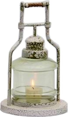 Shilpm Glass, Brass Candle Holder
