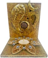 Butterfly Homes Ganesha Tea Light-BH-CS-10-106 Wooden 1 - Cup Tealight Holder Set(Silver, Black, Pack of 1)