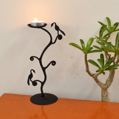 Chinhhari Arts Tree Candle stand Iron 1 - Cup Candle Holder